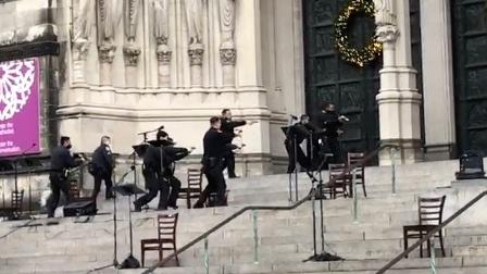 نیویارک کلیسے میں دعائیہ تقریب پر حملہ: شہری محفوظ، حملہ آور ہلاک