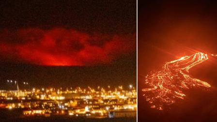 آئس لینڈ میں آتش فشاں نے لاوا اُگل دیا: علاقےمیں گزشتہ ایک سال کے دوران زلزلے کے 40 ہزار چھوٹے جھٹکے درج ہوئے